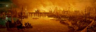 The Fire of London, September 1666 -unknown artist