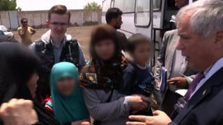 بازگشت کودکان تاجیک که پدرانشان به داعش پیوسته بودند