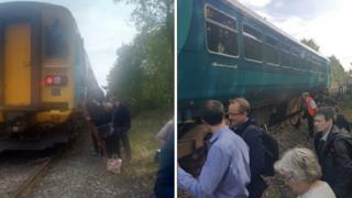 The evacuated train