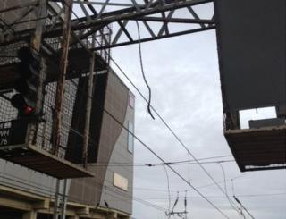 Damage to overhead lines at Luton station