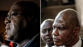 Felix Tshisekedi, déclaré vainqueur, et l'opposant Martin Fayulu