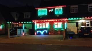 Christmas lights display