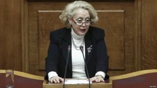 Supreme Court judge Vassiliki Thanou in court on 9 March 2015