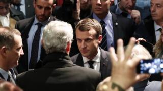 Mr Macron meets Corsican nationalist politicians