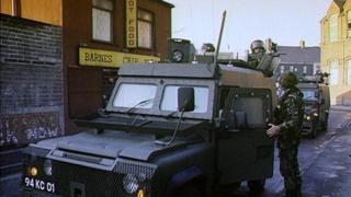 British soldiers in Belfast in 1991