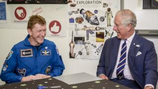 Tim Peake and Prince Charles