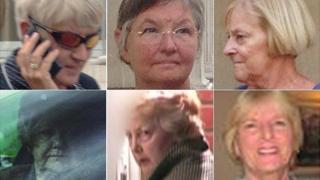 Clockwise from top left: Hazel Cameron, Mary Nash, Susan Crane, Carol Chalmers, Jennifer Smith-Hayes, Laura Fox
