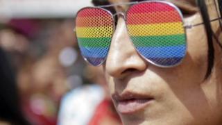 Gafas con la bandera arcoíris
