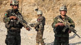 নাঙ্গারহার প্রদেশে আফগান নিরাপত্তা বাহিনীর টহল