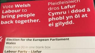 Welsh Labour leaflet