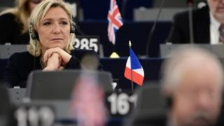 Marine Le Pen at the European parliament, 2016