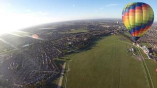 Balloon over York racecourse
