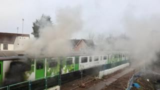 Kenilworth train fire