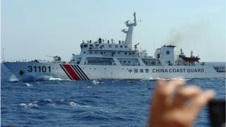 Tàu hải cảnh Trung Quốc trong vụ giàn khoan HD-981 hồi năm 2014