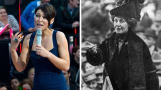 Big Brother host Emma Willis and suffragette Emmeline Pankhurst