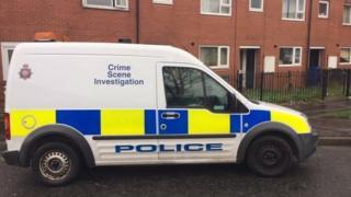 Crime scene after rape in Rochdale