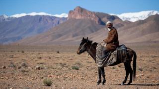 Un berber a caballo