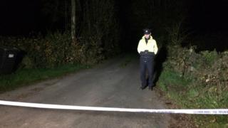 Irish police have sealed off the area close to where the bodies were found