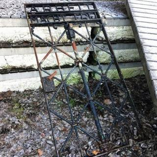 A handout picture by Bavaria's police shows a gate found near Bergen. Norway. Photo: 2 December 2016