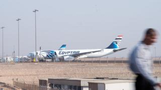 EgyptAir planes at Cairo airport, 19 May 2016