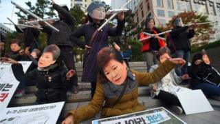 To President Park's opponents, she is a political puppet