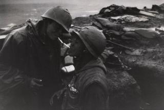 War portrait of two men in Vietnam, 1967