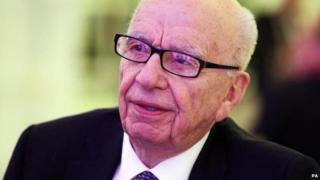 Rupert Murdoch listens at the Times CEO Summit at the Savoy in London.