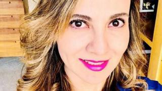 A selfie by Abril Pérez Sagaón, who was murdered in her car in Mexico City on Monday