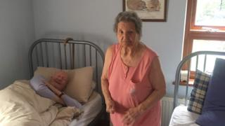 Eileen and Bill Jackson in their bedroom