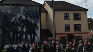 The parade started in the Bogside at Free Derry Corner