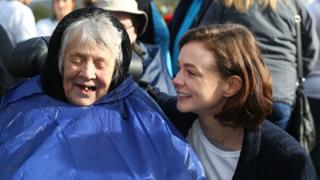 "Carey Mulligan and her grandmother ""Nans"""