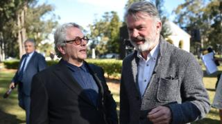 Mad Max director George Miller with Jurassic Park actor Sam Neill