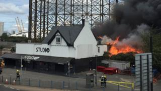 Fire at the nightclub in Greenwich