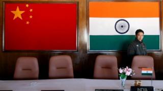 चीन भारत के ध्वज