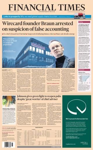 Financial Times portada 24.06.20