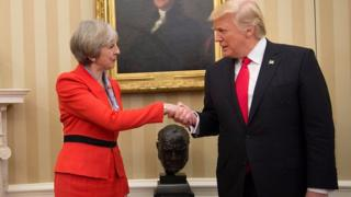 Donald Trump and Theresa May have reaffirmed their commitment to the Nato alliance after White House talks.