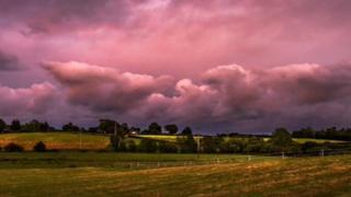 A thundery sky