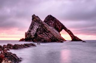 James Grant sent in this picture of Bow Fiddle Rock in Moray