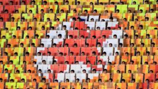Mass Games performance in Pyongyang