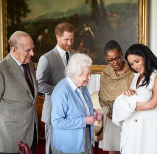 in_pictures Prince Harry and his wife Meghan show their newborn son to the Queen and Prince Philip