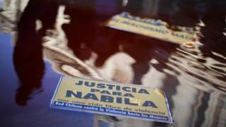 """A sign at a protest reading """"Justice for Nabila"""""""