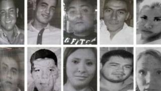 Photos of 10 of the youths who went missing after visiting in a bar in Mexico City in May 2013