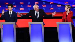 Buttigieg, Sanders and Warren