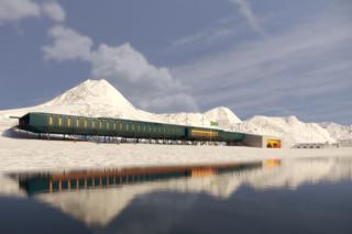 Uno de los diseños de la base brasileña en Antártica.