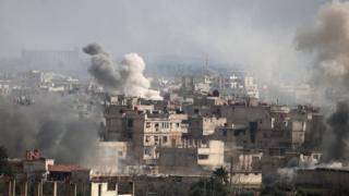 بمباران حموریا در غوطه شرقی