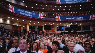 A crowd shot at the Conservative Party conference