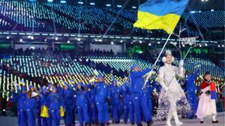 Украинская сборная на олимпиаде в Пхенчхане