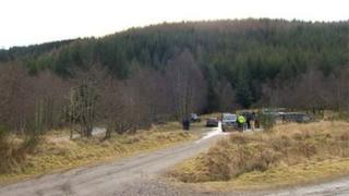Scene of fatal accident at Snowman Rally