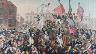 Painting of Peterloo Massacre