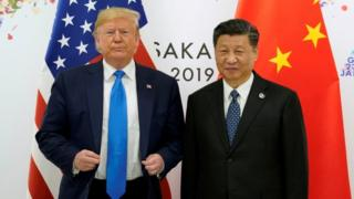 US President Donald Trump with Chinese President Xi Jinping